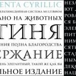 Шрифт Monumenta Pro