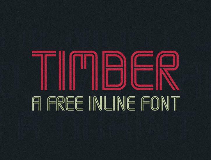 Font Timber Font