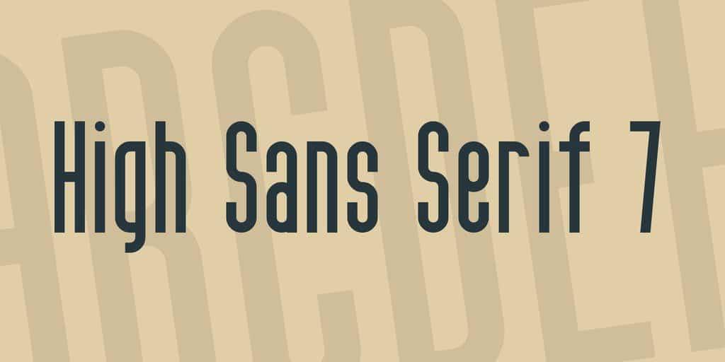 Font High sans serif 7