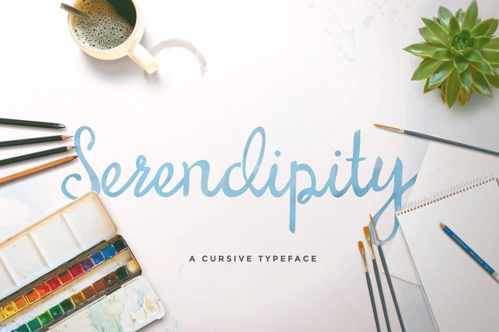 Font Serendipity Script freebie
