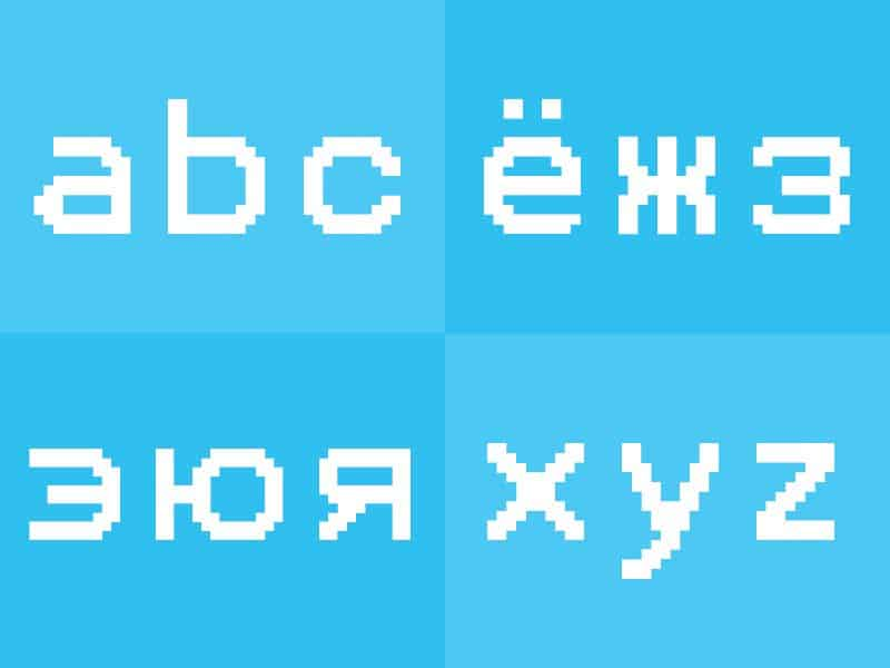 Шрифт Pexico