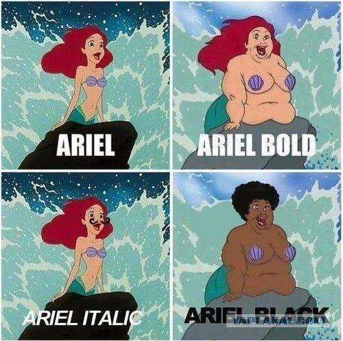 Arial шрифт скачать бесплатно