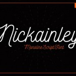 шрифт nickainley
