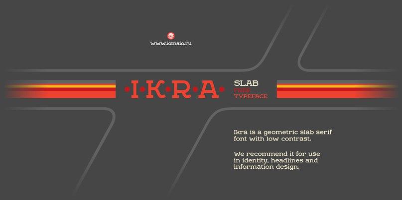 IkraSlab шрифт скачать бесплатно