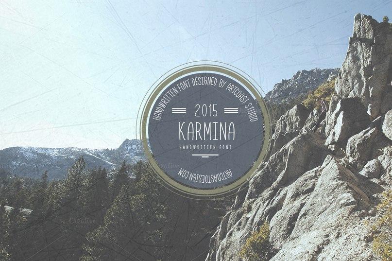 Karmina шрифт скачать бесплатно