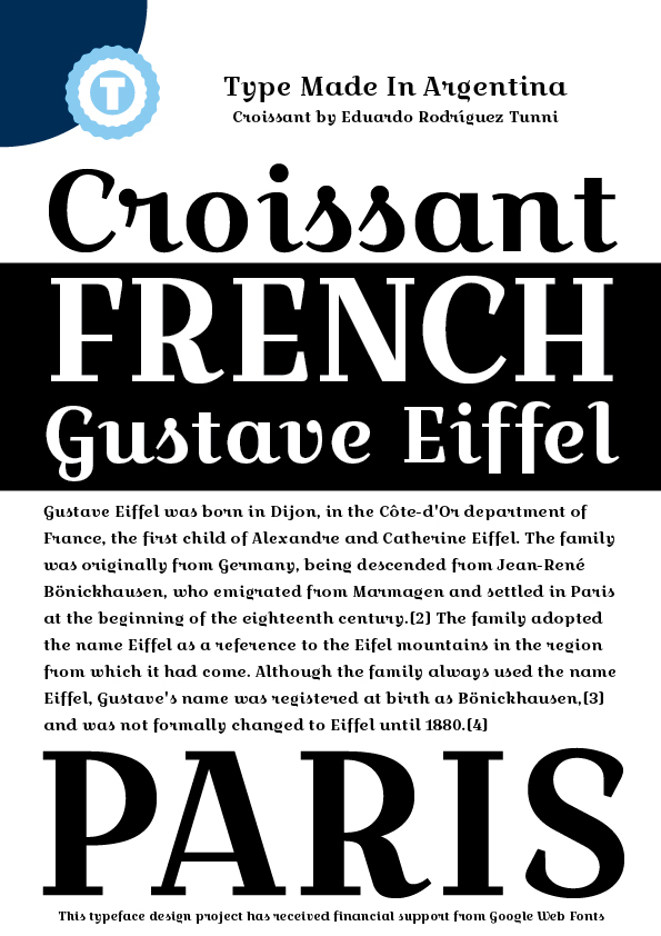 Font Croissant