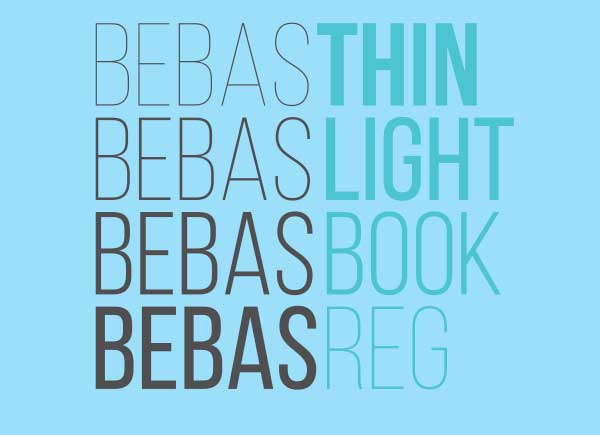 Bebas Neue шрифт скачать бесплатно