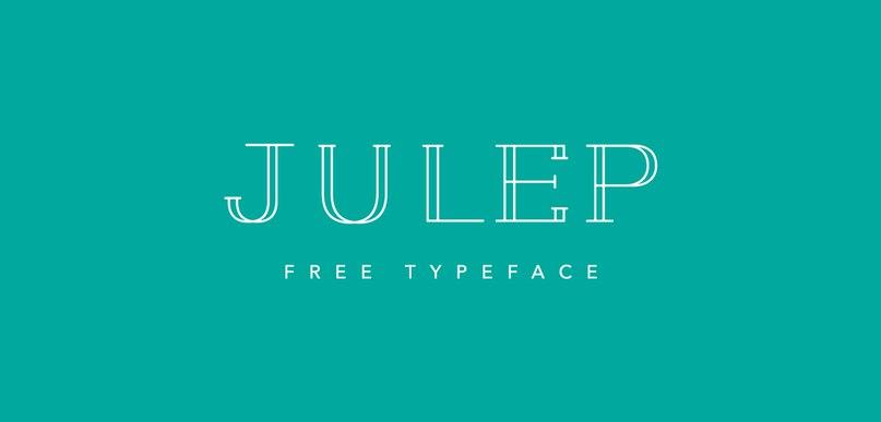 Julep Typeface шрифт скачать бесплатно