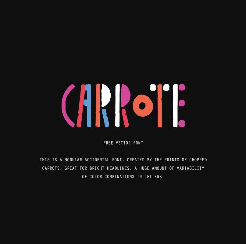 carrote шрифт скачать бесплатно