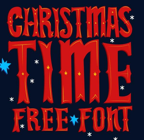 Font Christmas Time Display (Christmas Font ) шрифт скачать бесплатно