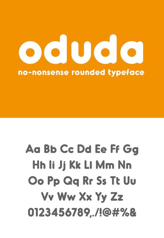 Oduda Bold шрифт скачать бесплатно