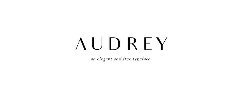 Audrey шрифт скачать бесплатно