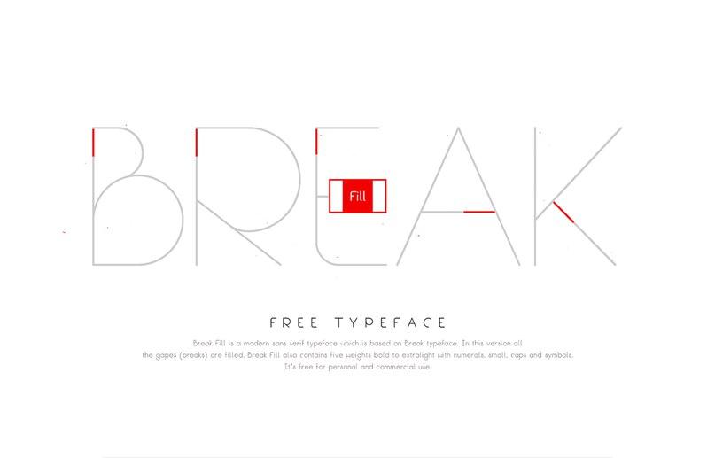 Break Fill шрифт скачать бесплатно