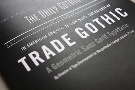 Font Trade Gothic