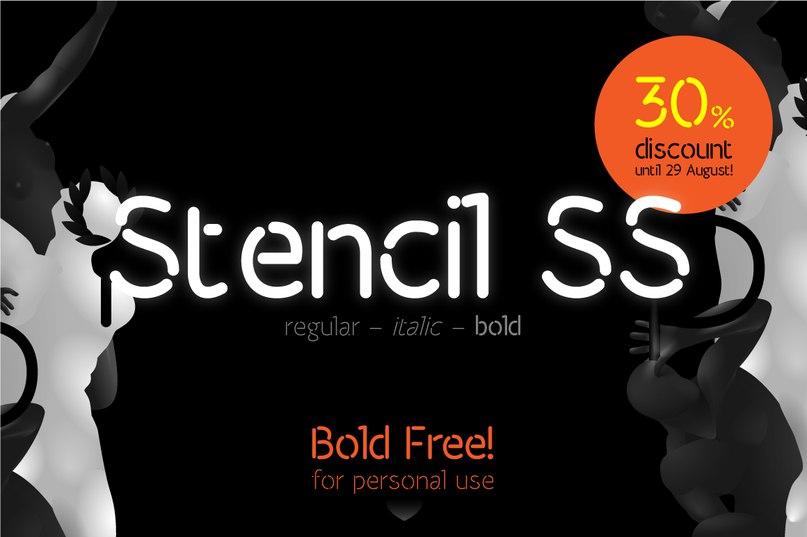 Stencil Bold шрифт скачать бесплатно