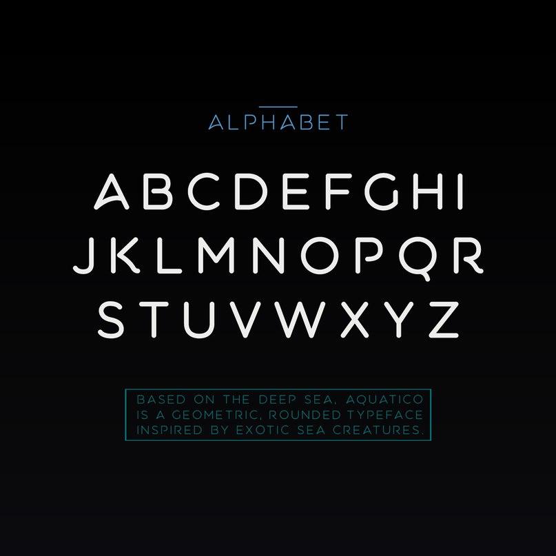 Aquatico Regular шрифт скачать бесплатно