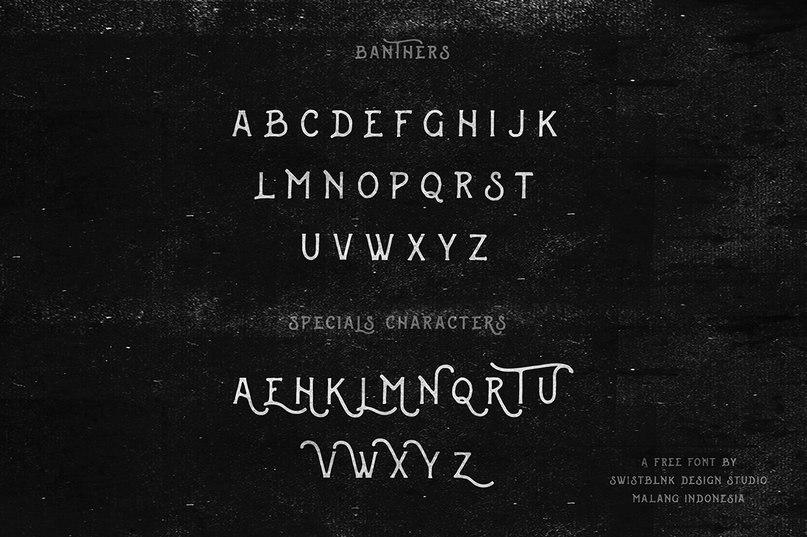 Swistblnk Banthers шрифт скачать бесплатно