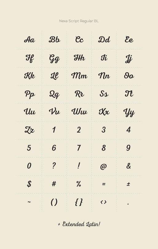 nexascript шрифт скачать бесплатно