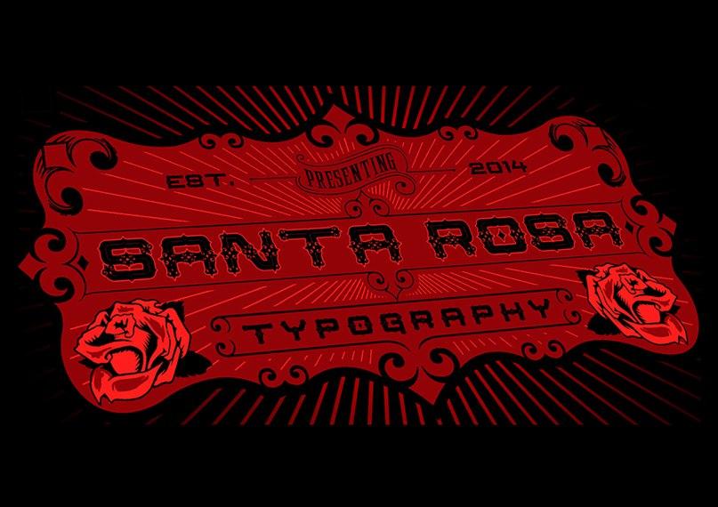 Santa Rosa шрифт скачать бесплатно