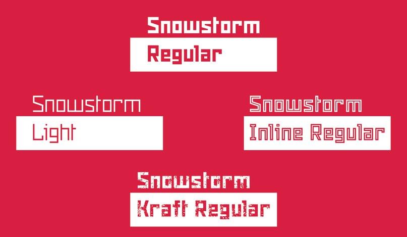 Snowstorm шрифт скачать бесплатно