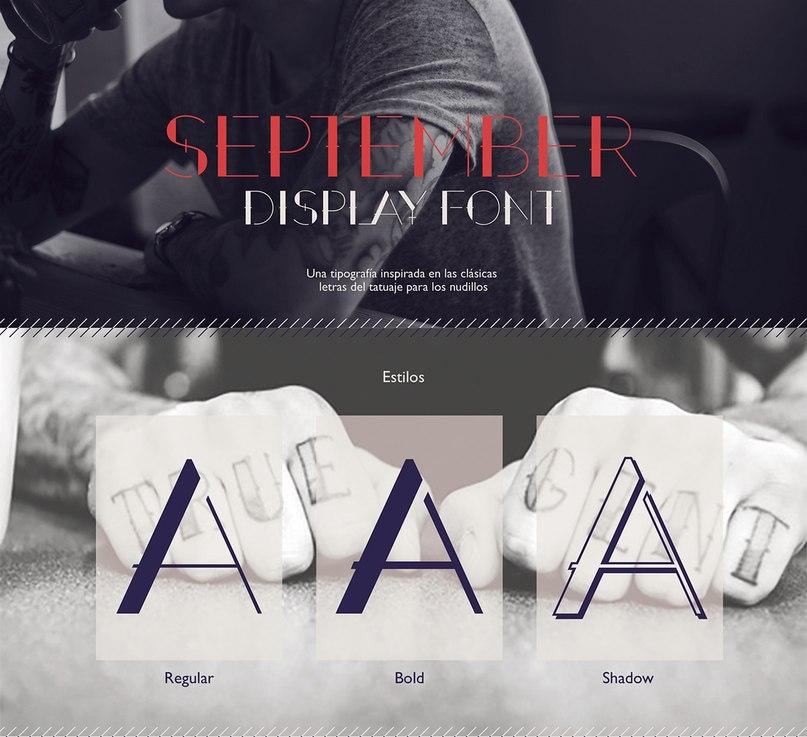 September Display Font шрифт скачать бесплатно