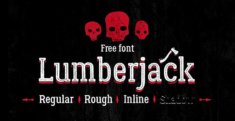 Lumberjack шрифт скачать бесплатно