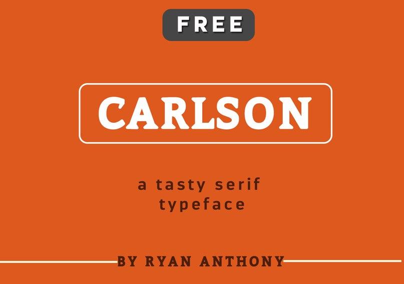 Carlson шрифт скачать бесплатно