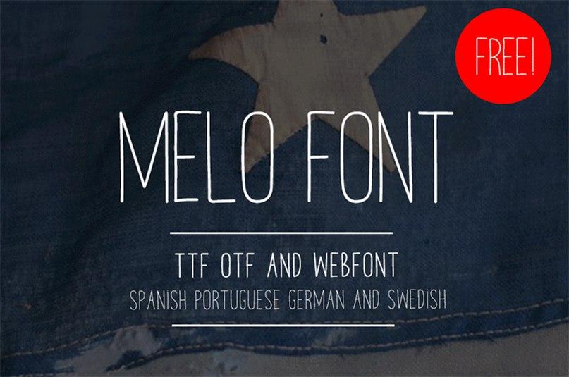 MELO FONT шрифт скачать бесплатно