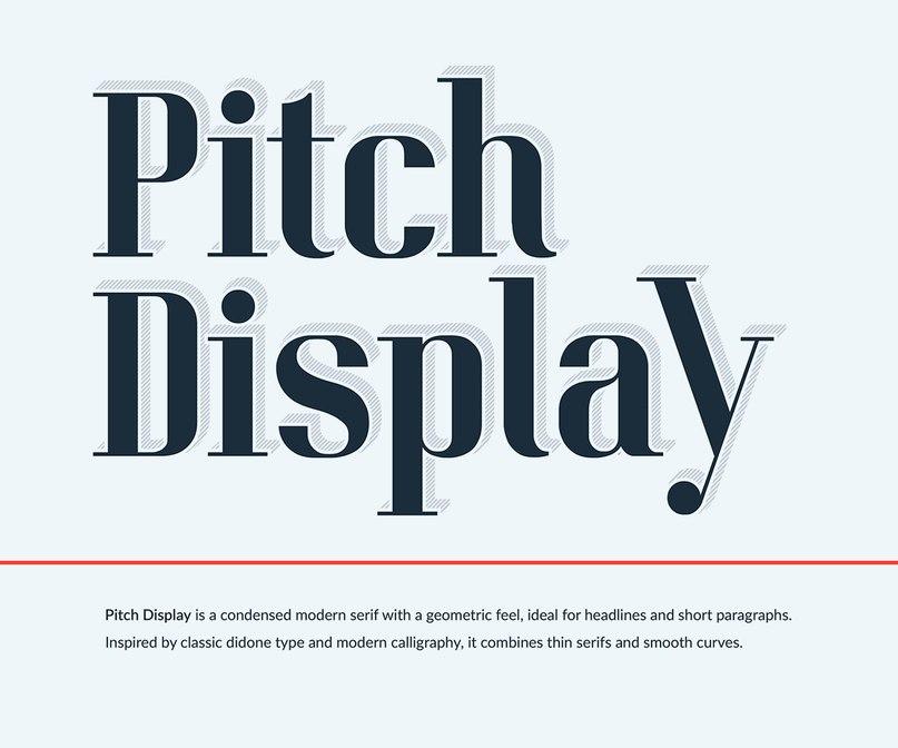 Pitch Display Demo шрифт скачать бесплатно