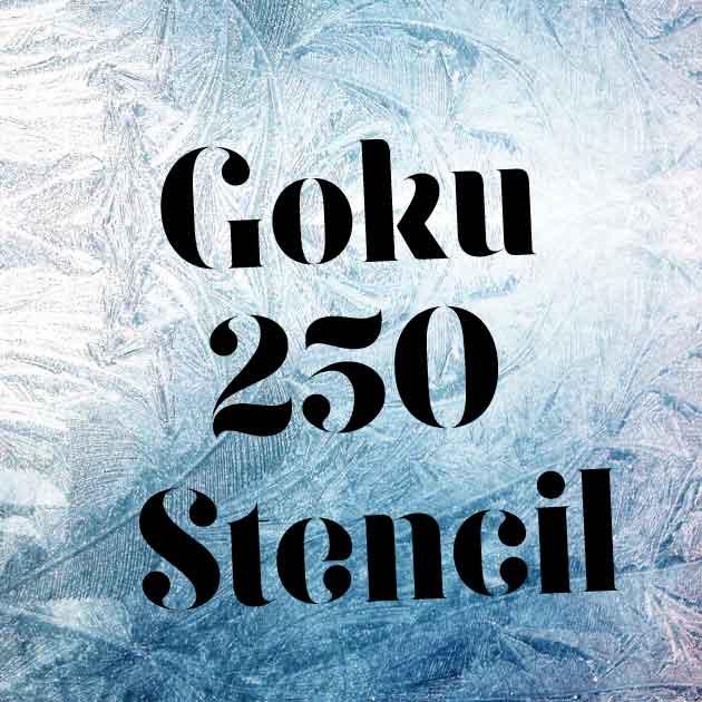Goku 250 stencil шрифт скачать бесплатно