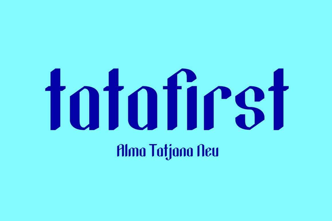 tatafirst-Regular шрифт скачать бесплатно