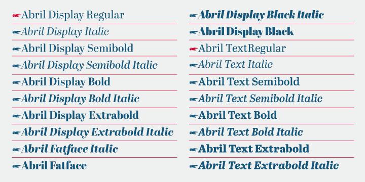Abril шрифт скачать бесплатно
