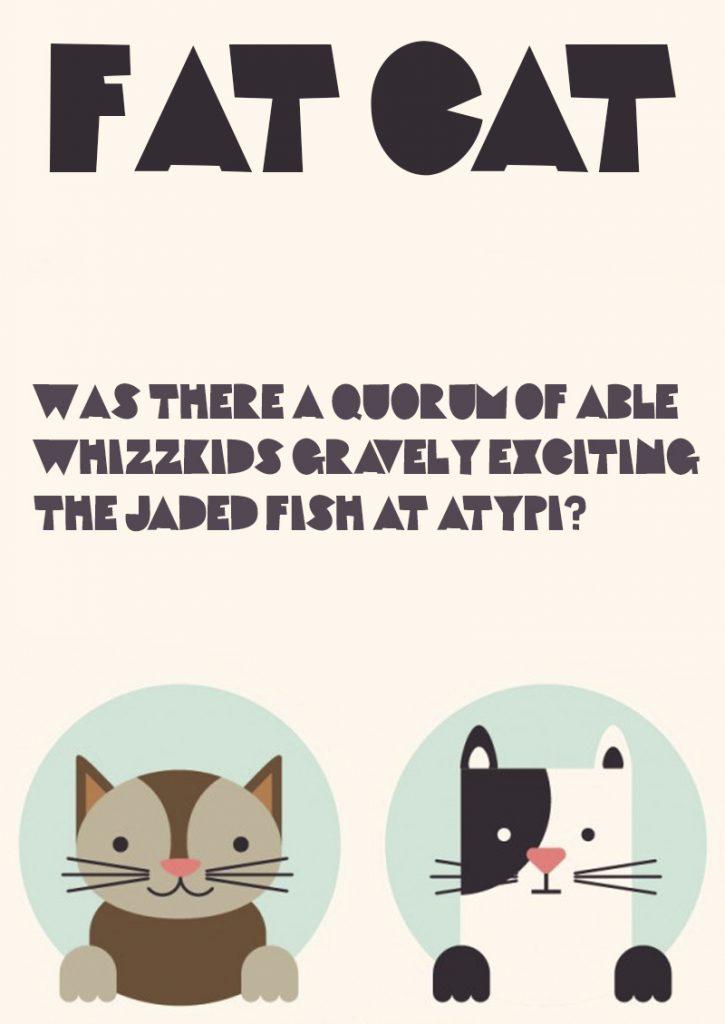 Fat Cat шрифт скачать бесплатно
