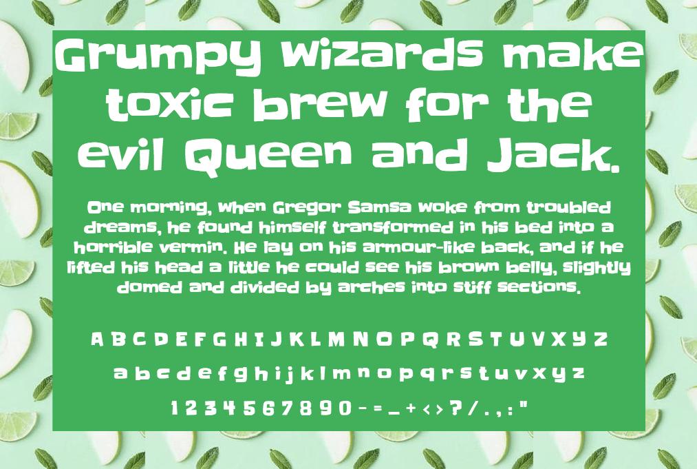Slackey шрифт скачать бесплатно