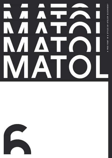 Matol шрифт скачать бесплатно