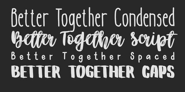 Better Together Family шрифт скачать бесплатно