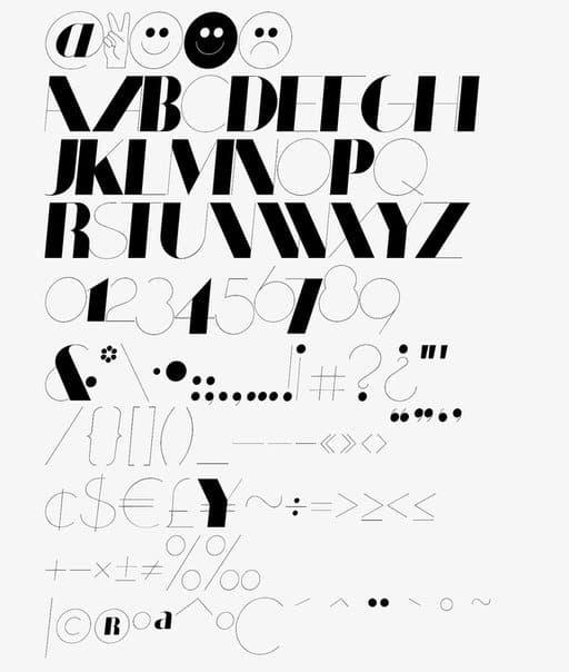 Coltrane Display шрифт скачать бесплатно