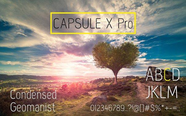 Capsule X Pro Medium Personal Use шрифт скачать бесплатно