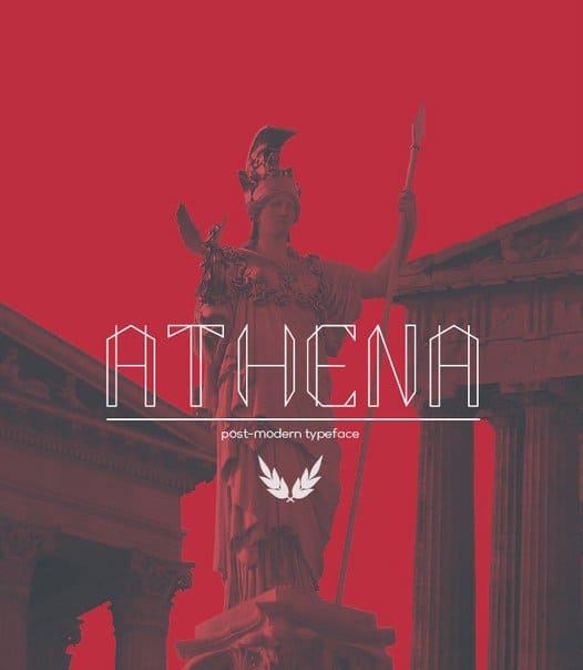 Athena regular шрифт скачать бесплатно