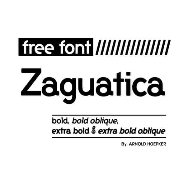 zaguatica шрифт скачать бесплатно