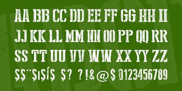 stencil style new шрифт скачать бесплатно