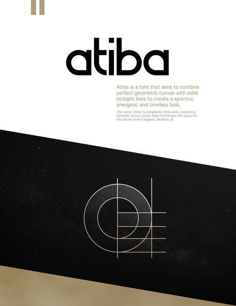 Atiba шрифт скачать бесплатно