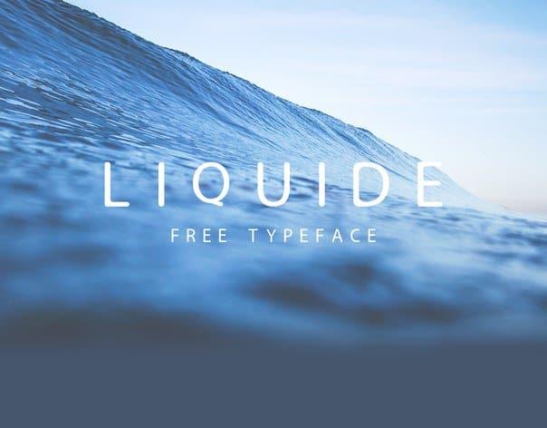 Liquide шрифт скачать бесплатно