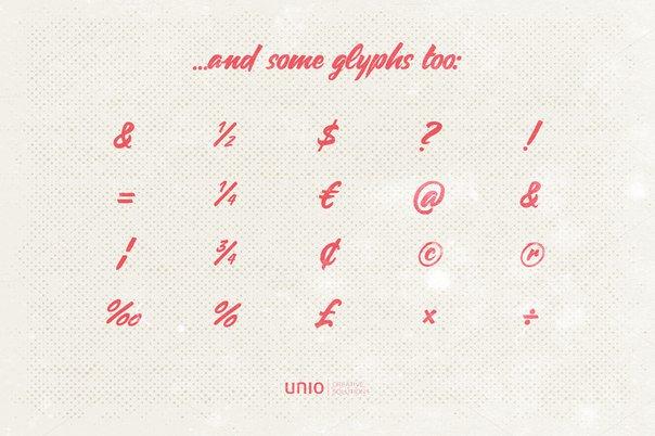 Carosello UnioCS шрифт скачать бесплатно