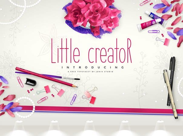 Little Creator - Junik Studio шрифт скачать бесплатно