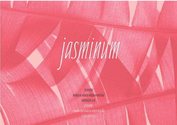 Jasminum шрифт скачать бесплатно