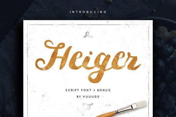 Heiger шрифт скачать бесплатно