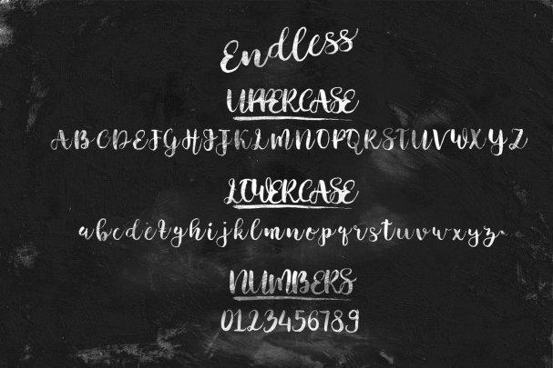 Endless Script шрифт скачать бесплатно
