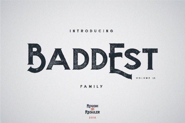 Baddest typeface шрифт скачать бесплатно