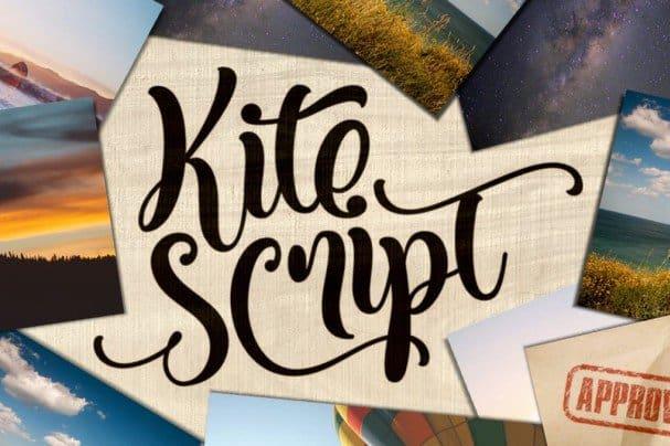 Kite Script шрифт скачать бесплатно